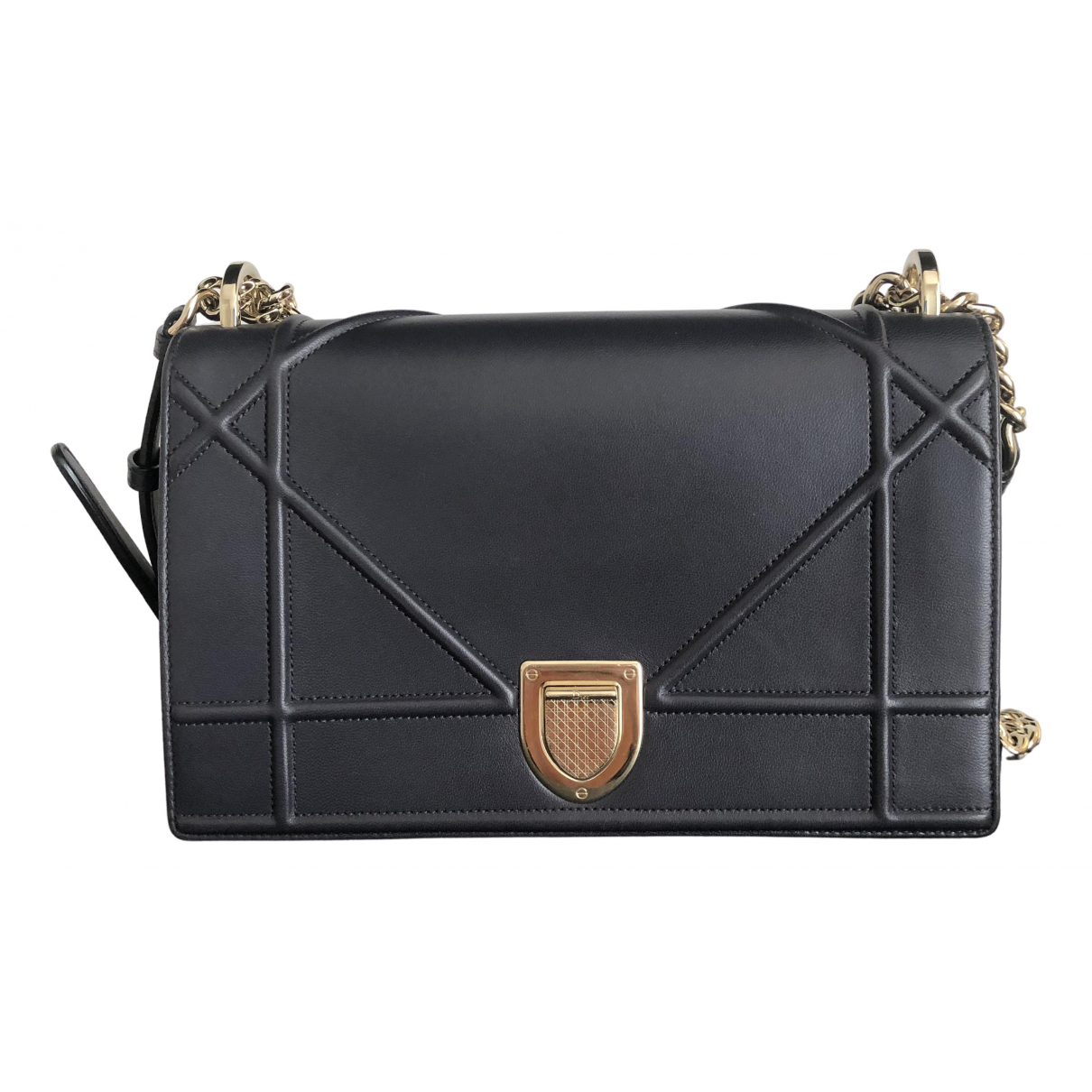 Dior Diorama Anthracite Leather handbag for Women \N