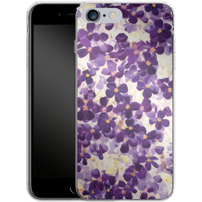 Apple iPhone 6 Plus Silikon Handyhuelle - Violet Bloom von Amy Sia
