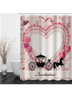 Romantic Cinderella's Carriage 3D Printed Bathroom Waterproof Shower Curtain