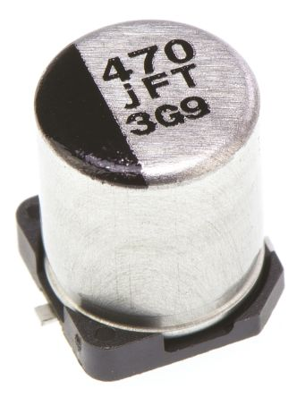 Panasonic 470μF Electrolytic Capacitor 6.3V dc, Surface Mount - EEEFTJ471XAP (10)