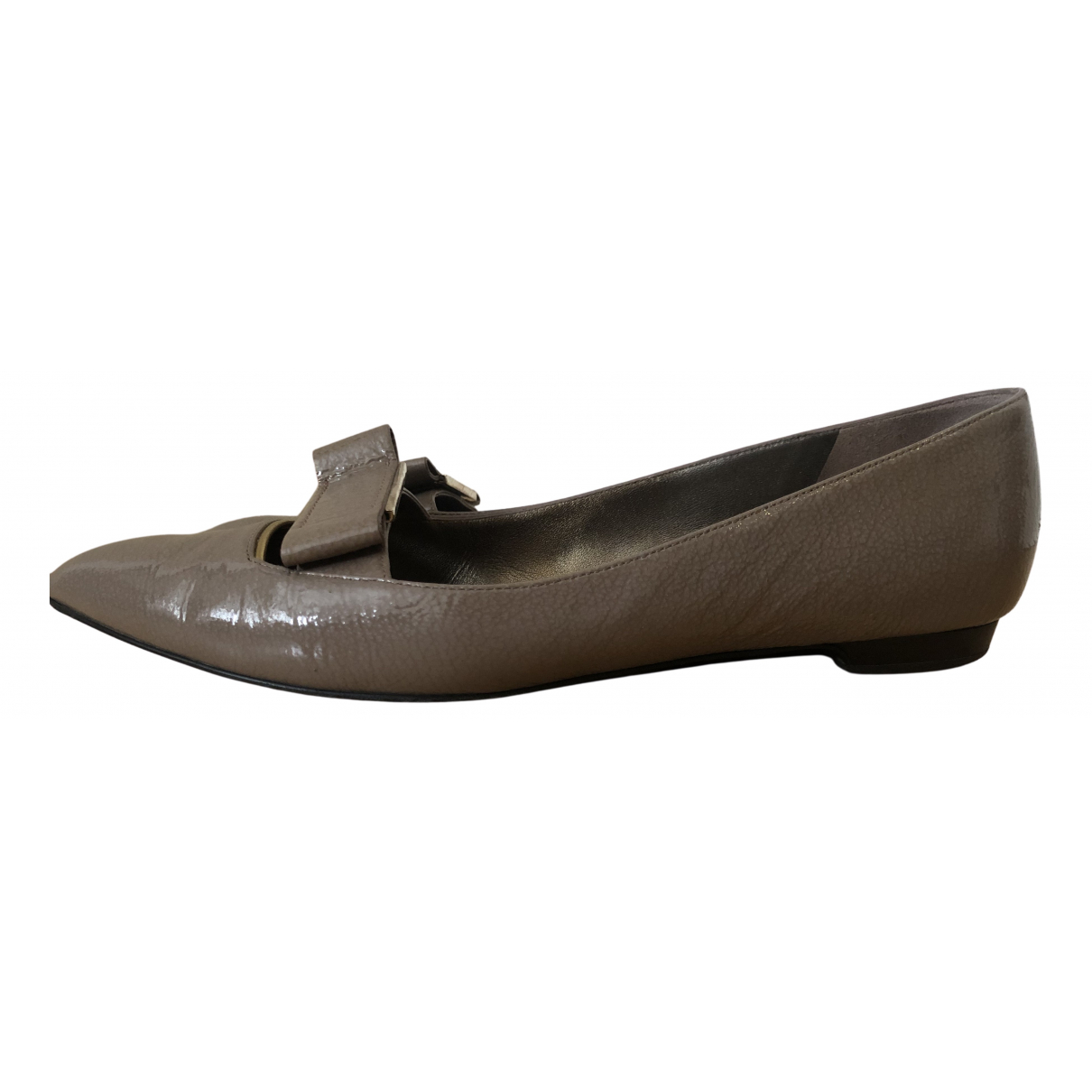 Lanvin N Grey Patent leather Flats for Women 41 EU