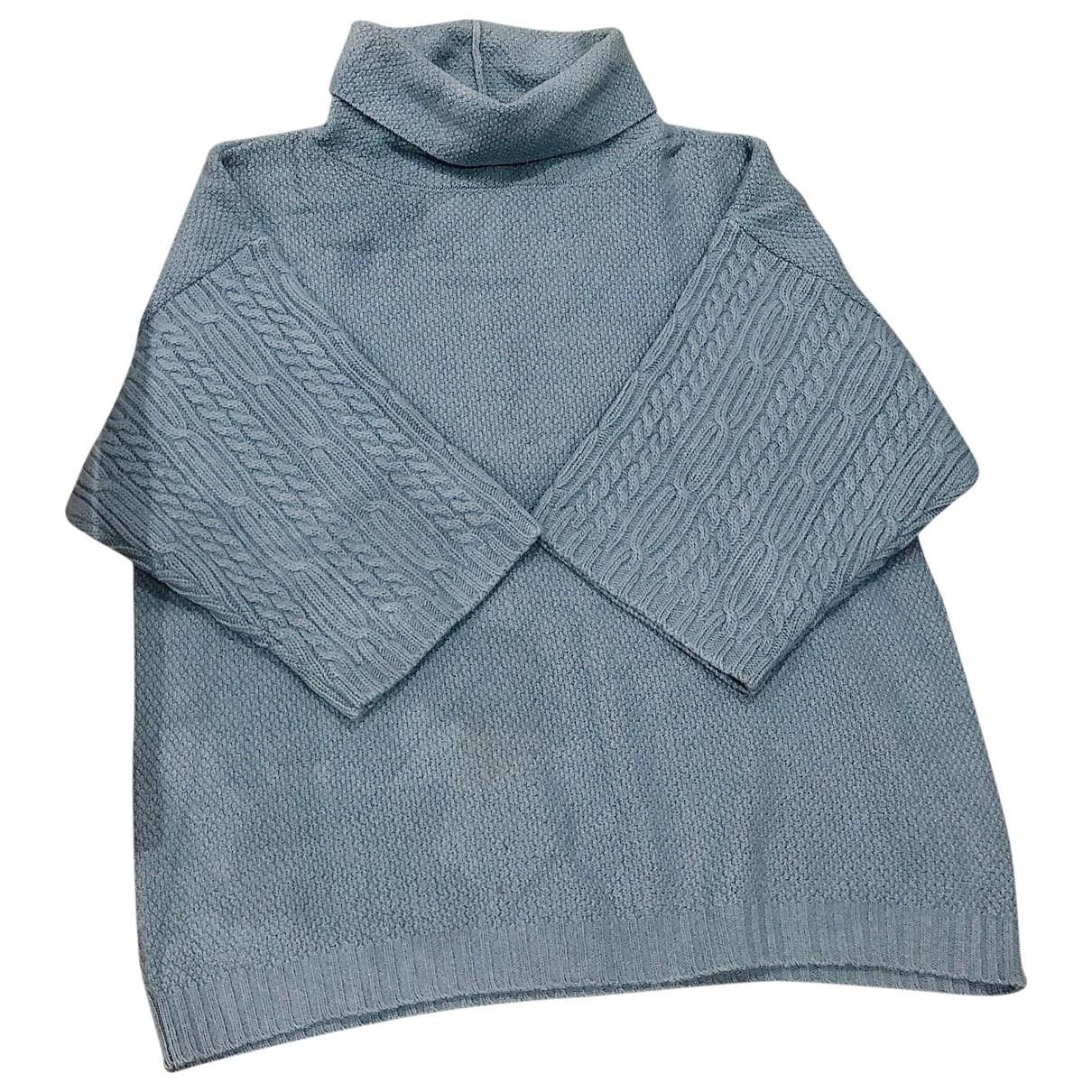 Max Mara \N Pullover in  Blau Kaschmir