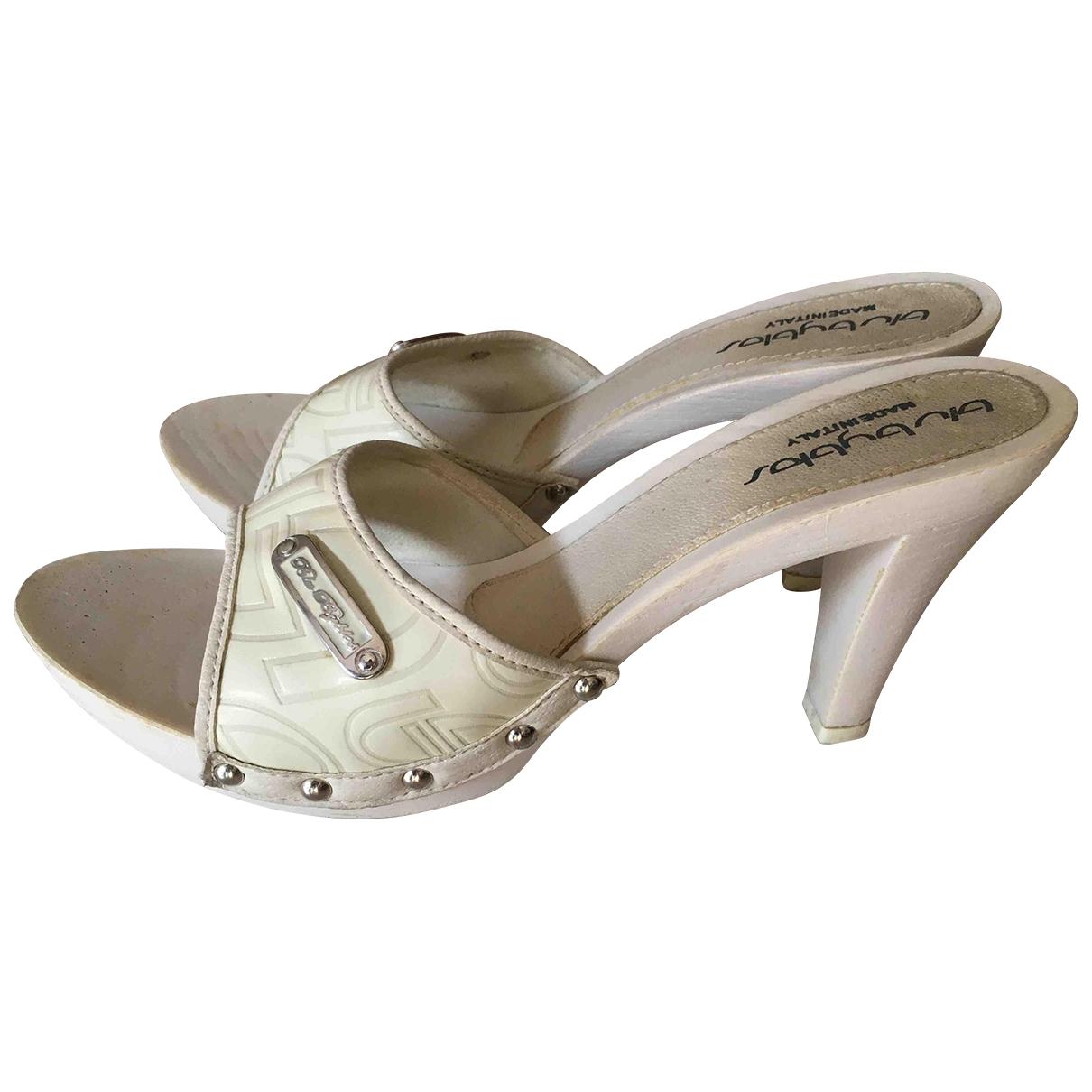 Byblos - Sandales   pour femme en cuir verni - blanc