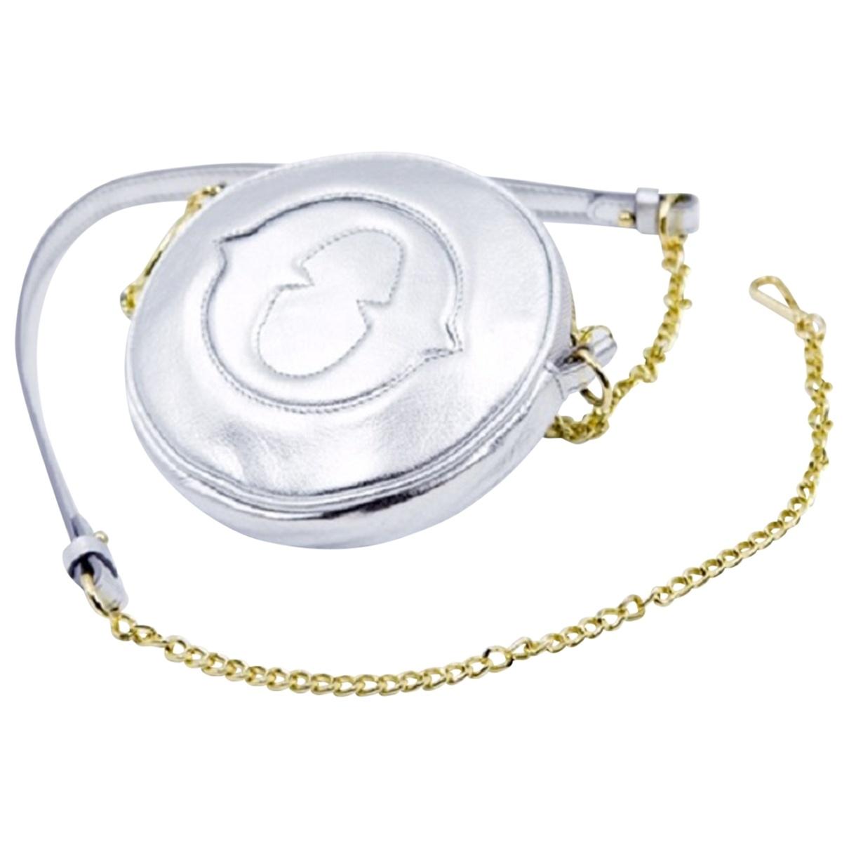 Ottodame - Pochette   pour femme en cuir - argente