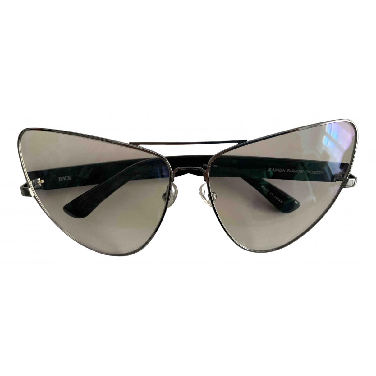Linda Farrow N Silver Metal Sunglasses for Women N