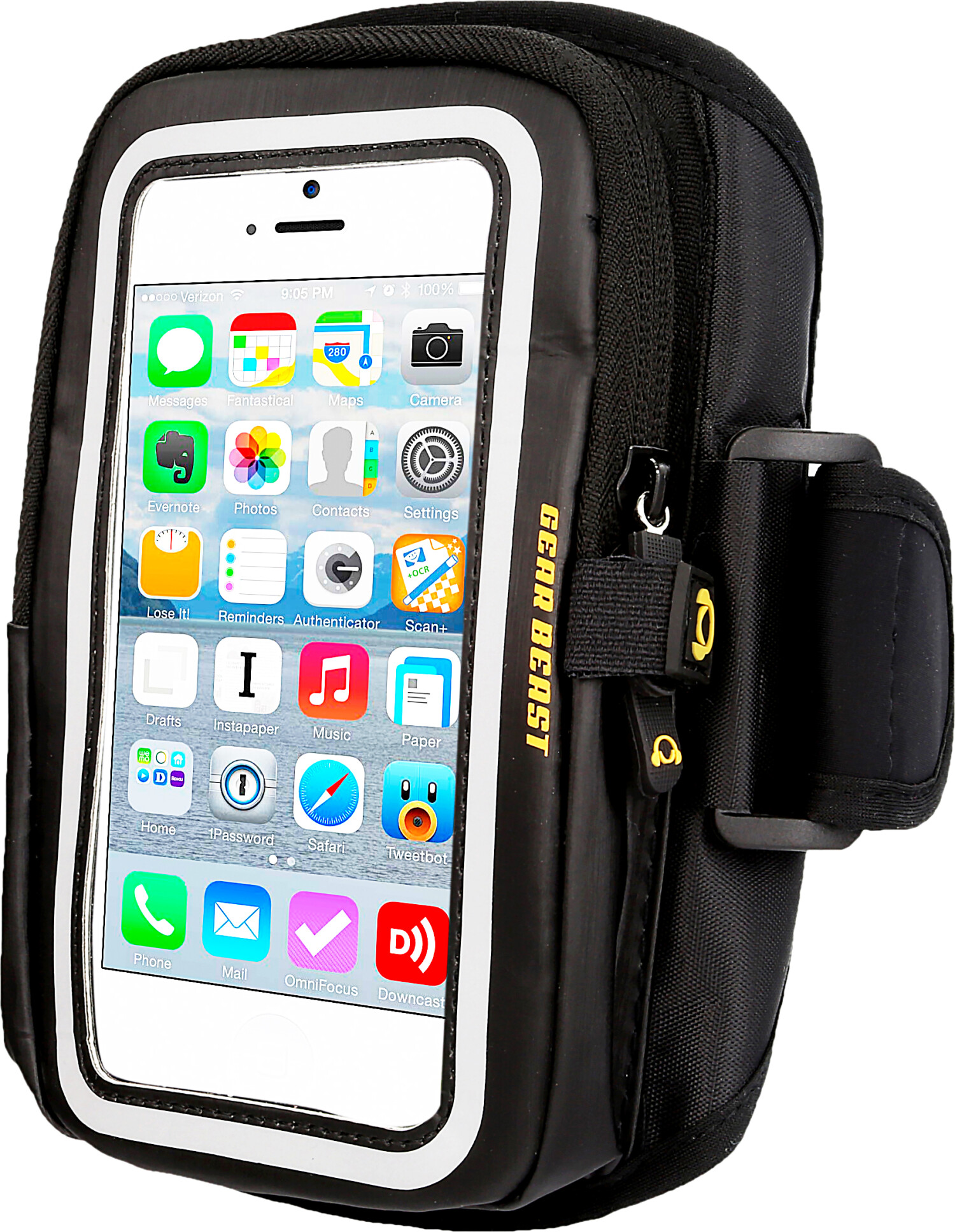 Gear Beast Sports Wallet - Ip7P Cell Phone Case ABGW-IP7P-BLK