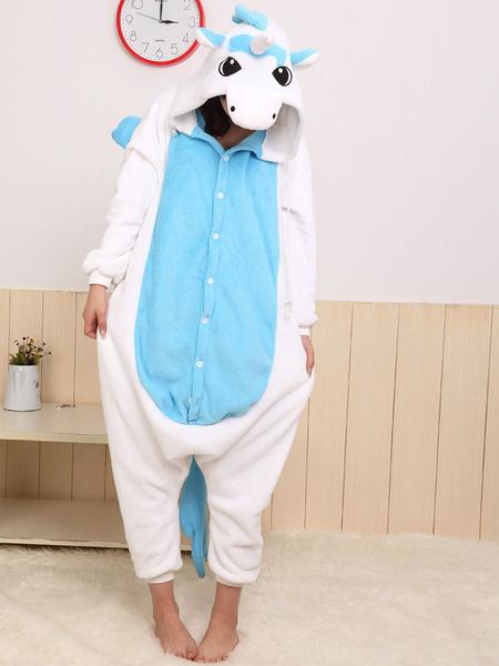 Milanoo Disfraz Halloween Azul blanco dulce unicornio Kigurumi vestuario Halloween