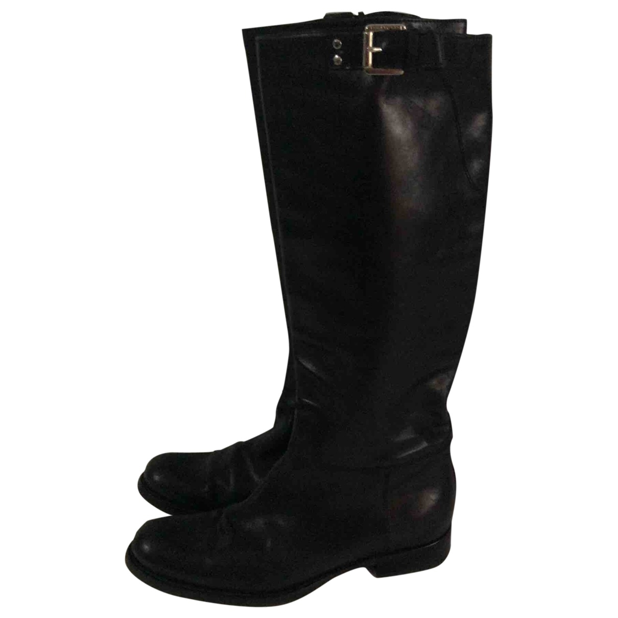 Dsquared2 \N Black Leather Boots for Women 37 EU