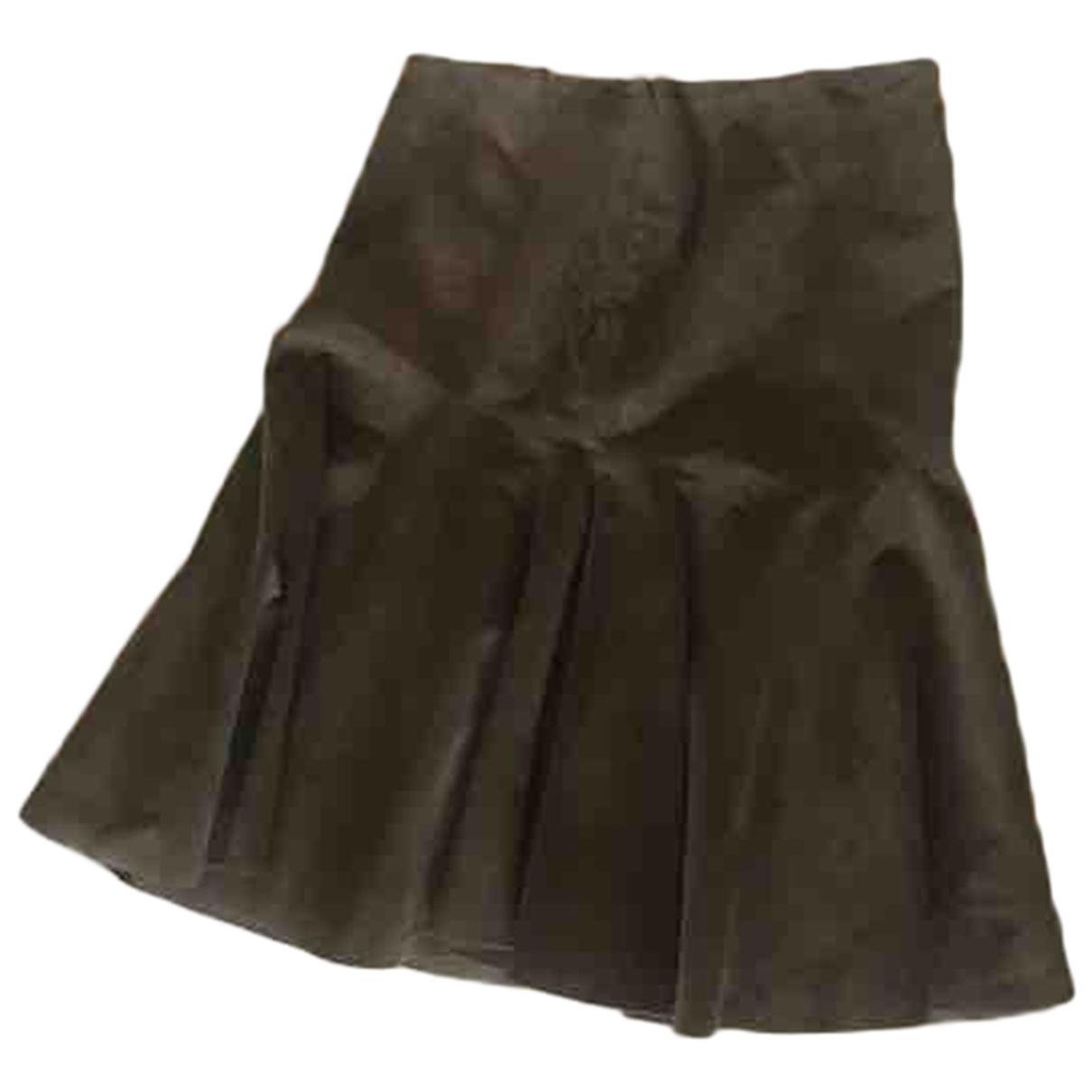 Ralph Lauren Purple Label N Grey Suede skirt for Women 6 US