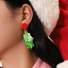 Ohrringe mit Weihnachten Design