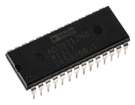 Analog Devices AD7871JNZ, 14-bit Parallel ADC, 28-Pin PDIP