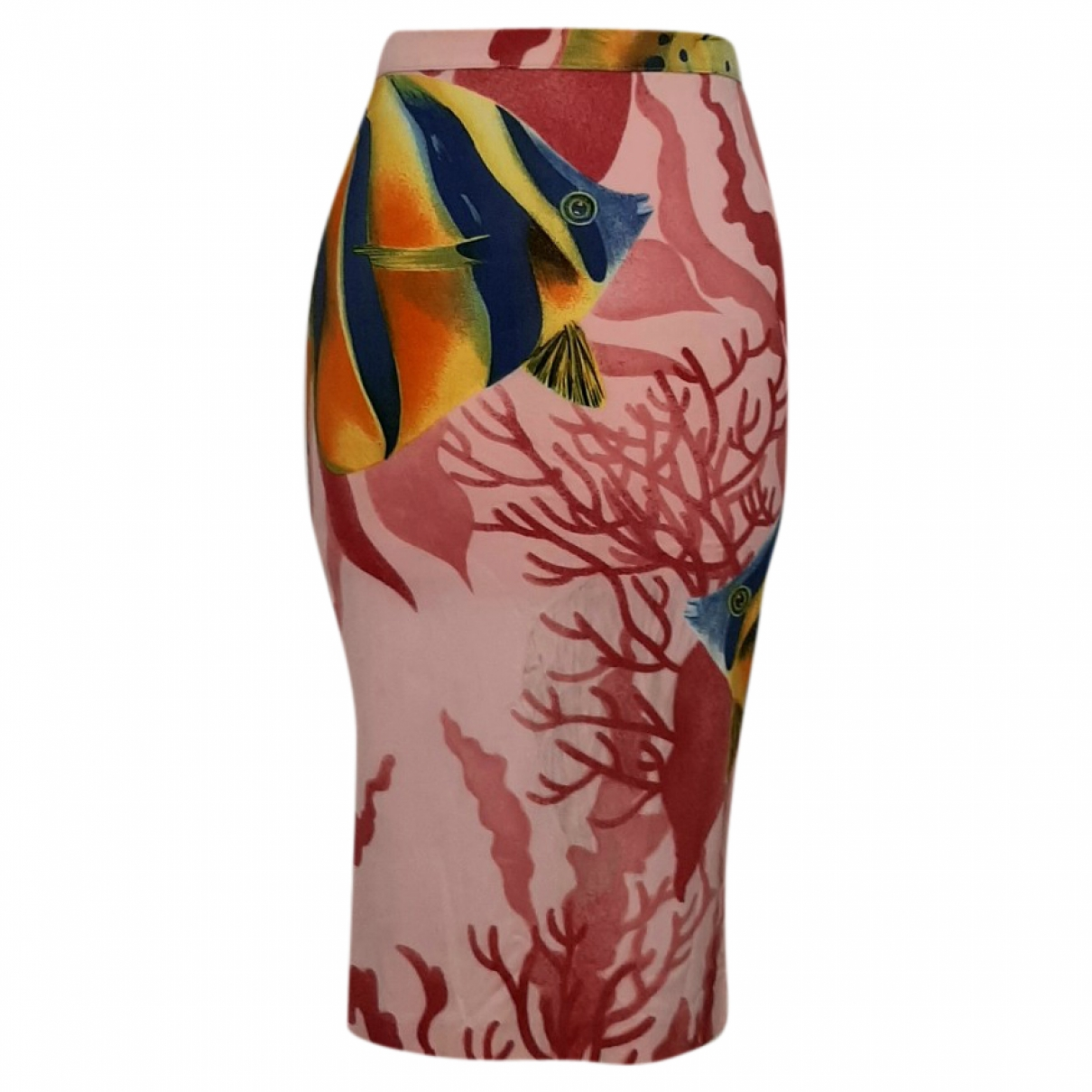 D&g \N Pink Cotton - elasthane skirt for Women XS International