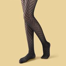 Netzstrumpfhose mit Streifen Muster