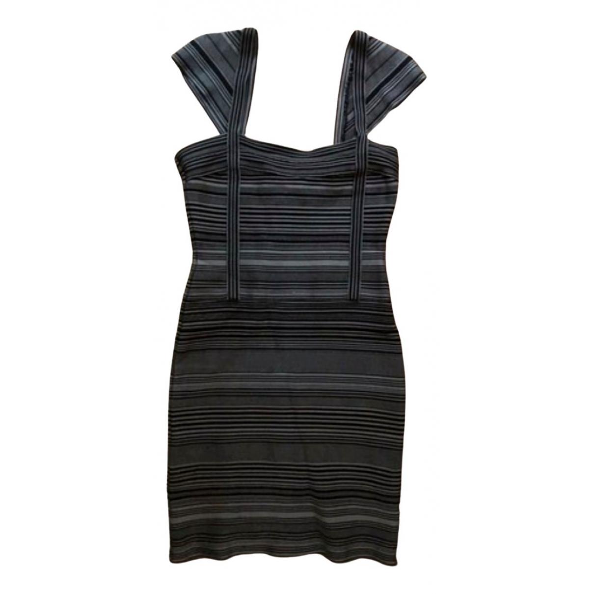 Herve Leger N Black Cotton - elasthane dress for Women L International
