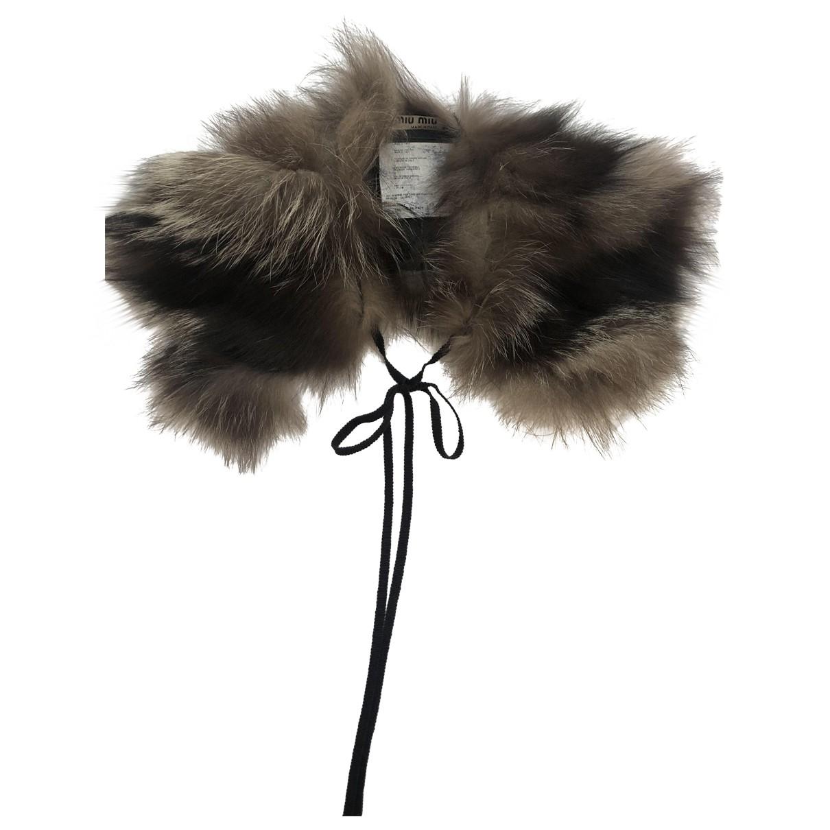 Miu Miu \N Schal in  Grau Fuchs