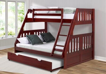 1218-TFM_2890-TM Twin/Full Mission Bunkbed With Twin Trundle in Merlot