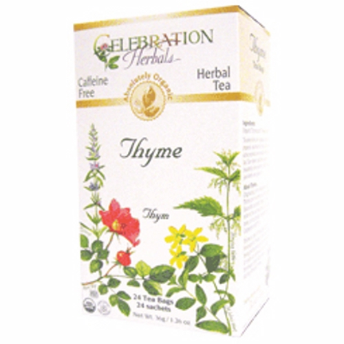 Organic Thyme Leaf Tea 24 Bags by Celebration Herbals