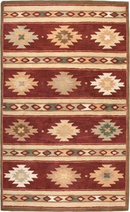SOWSU2012007008RD Southwest SU2012-8' x 8' Hand-Tufted 100% Wool Rug in Red  Round