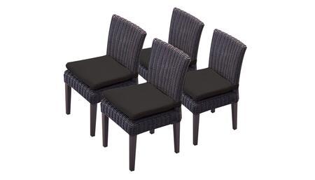 TKC094b-ADC-2x-C-BLACK 4 Venice Side Chairs - Wheat and Black