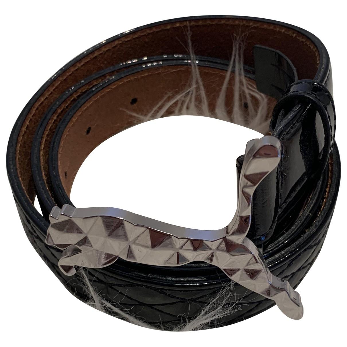 Puma \N Black Leather belt for Women M International