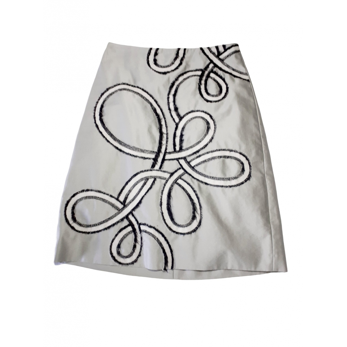 Non Signé / Unsigned \N Grey Silk skirt for Women 34 FR