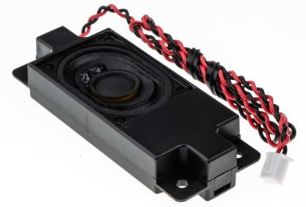 RS PRO 8Ω 4W Miniature Speaker, 400mm Lead Length, 80 x 31.1 x 14.9mm