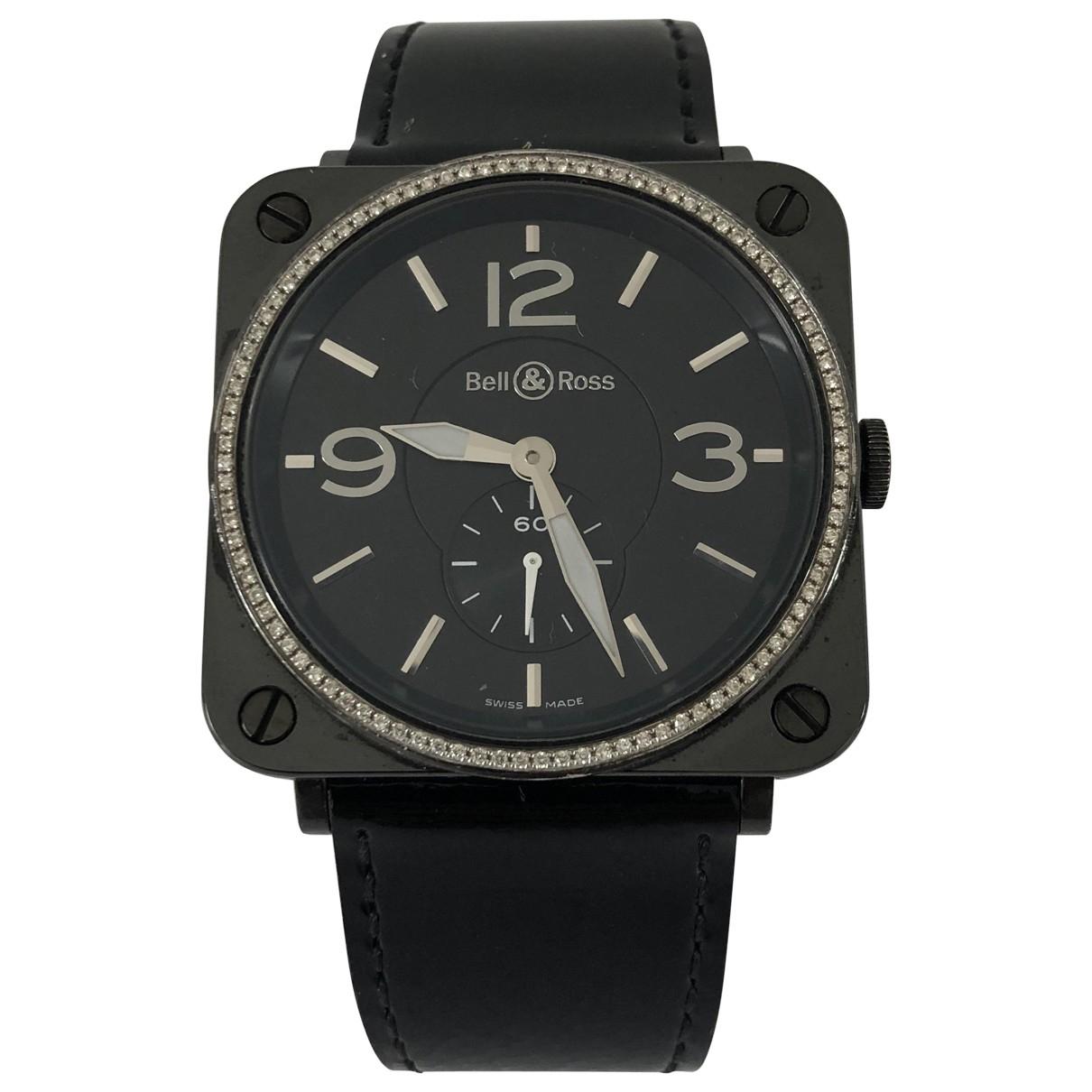 Bell & Ross BRS Ceramic Black Black Ceramic watch for Women \N