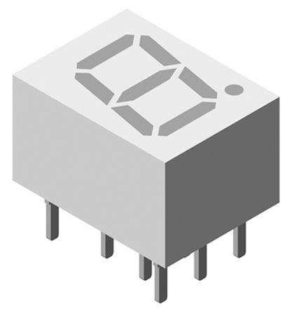 Vishay TDSG1150  7-Segment LED Display, CA Green 6 mcd RH DP 7mm (5)