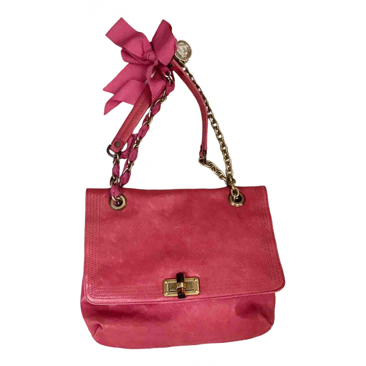 Lanvin Happy Handtasche in  Rosa Leder