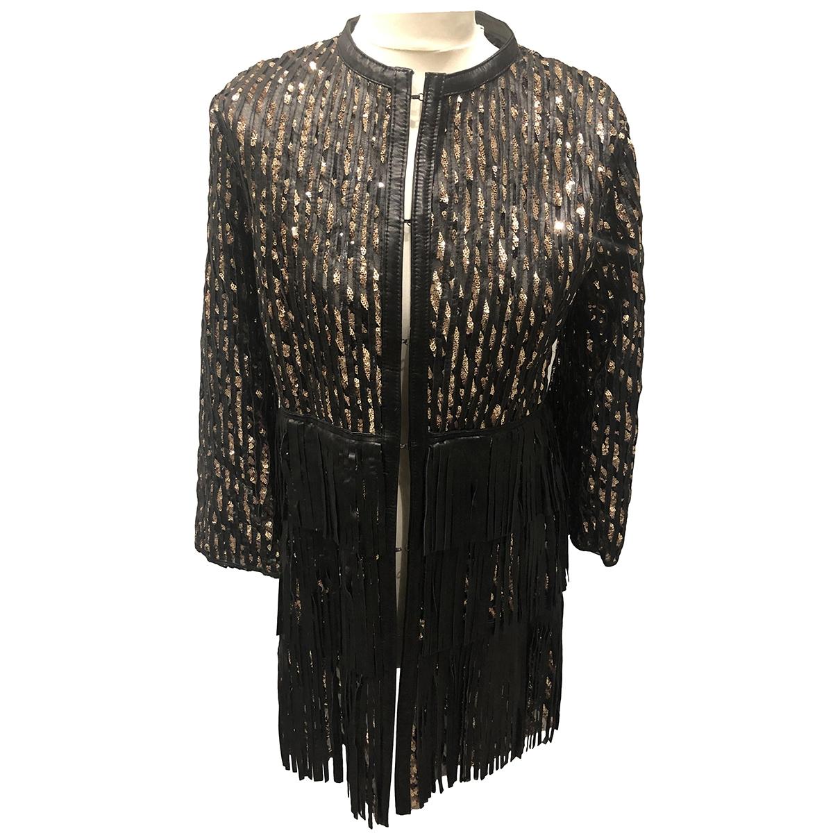 Caban Romantic - Veste   pour femme en cuir - noir