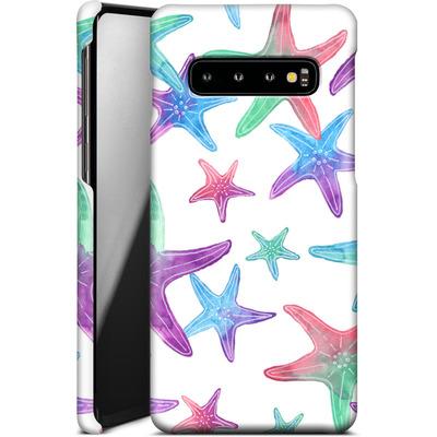 Samsung Galaxy S10 Smartphone Huelle - Starfish Print von Becky Starsmore