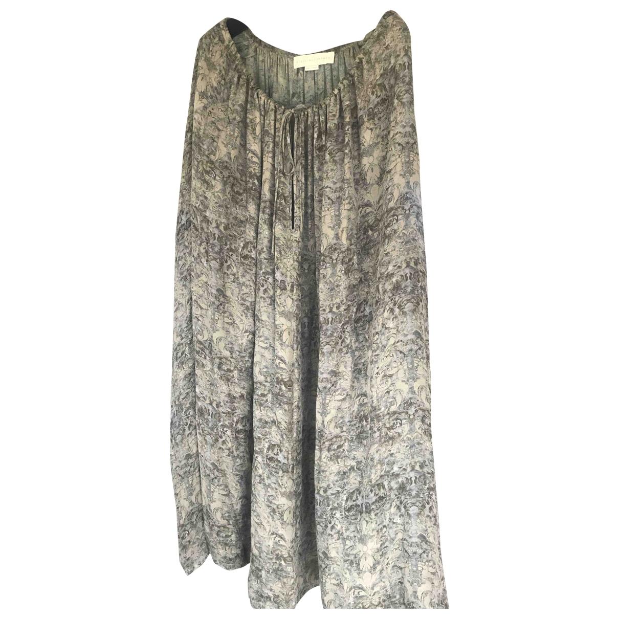Stella Mccartney \N Kleid in  Khaki Seide