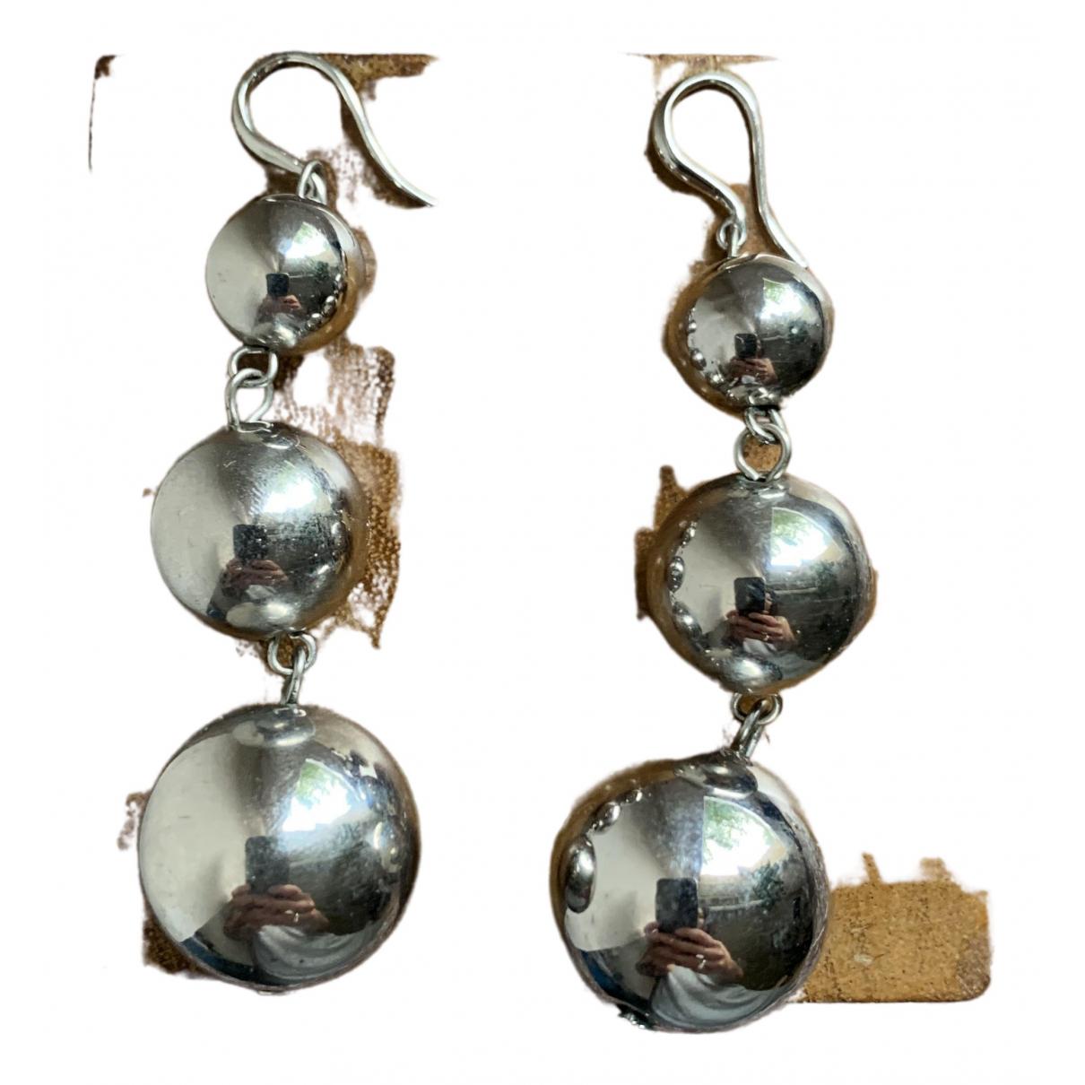 Mango - Boucles doreilles   pour femme en metal - argente