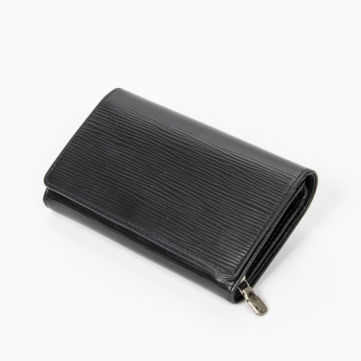 Louis Vuitton \N Portemonnaie in  Schwarz Leder