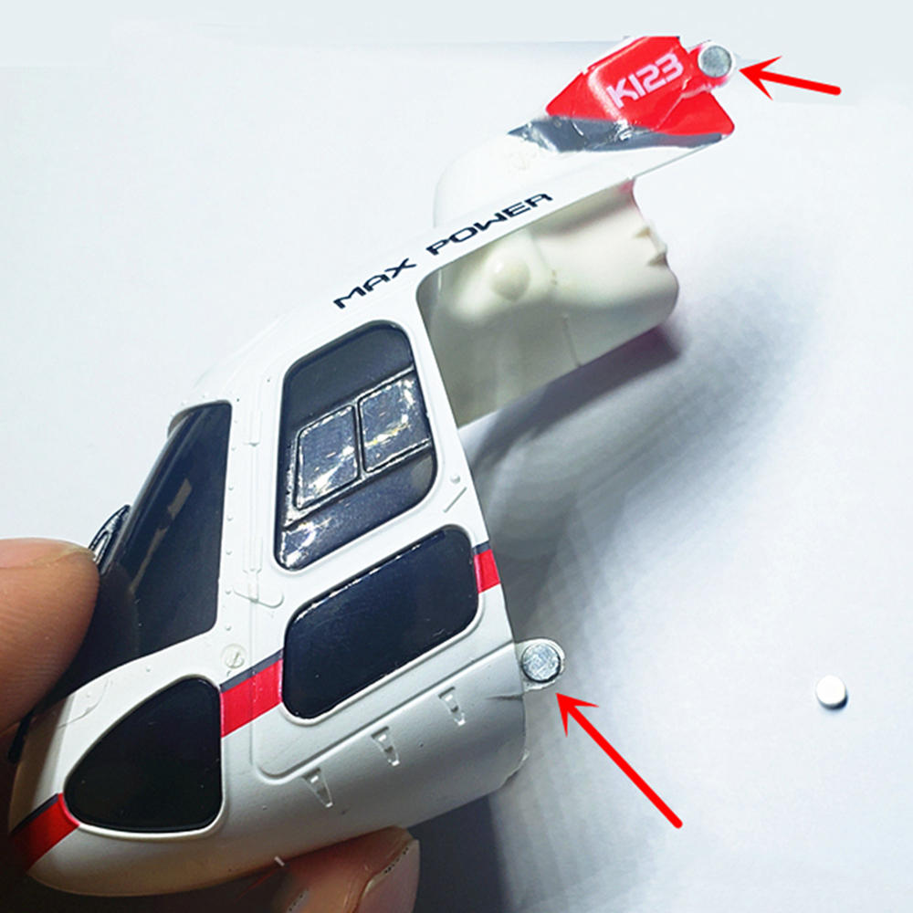 4PC Canopy Magnet For XK K123 K124 Wltoys V931 RC Helicopter