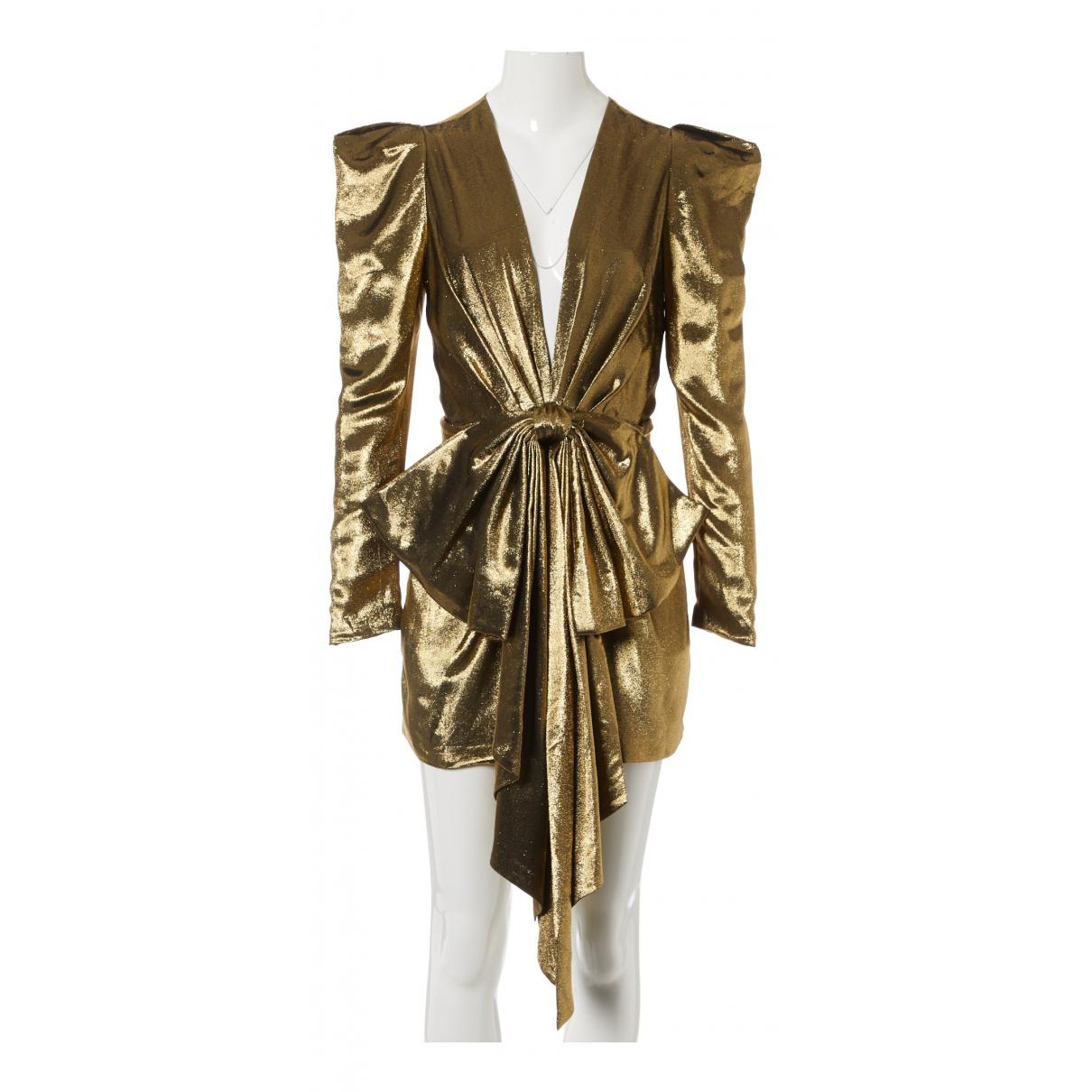 Alexandre Vauthier \N Kleid in  Gold Seide