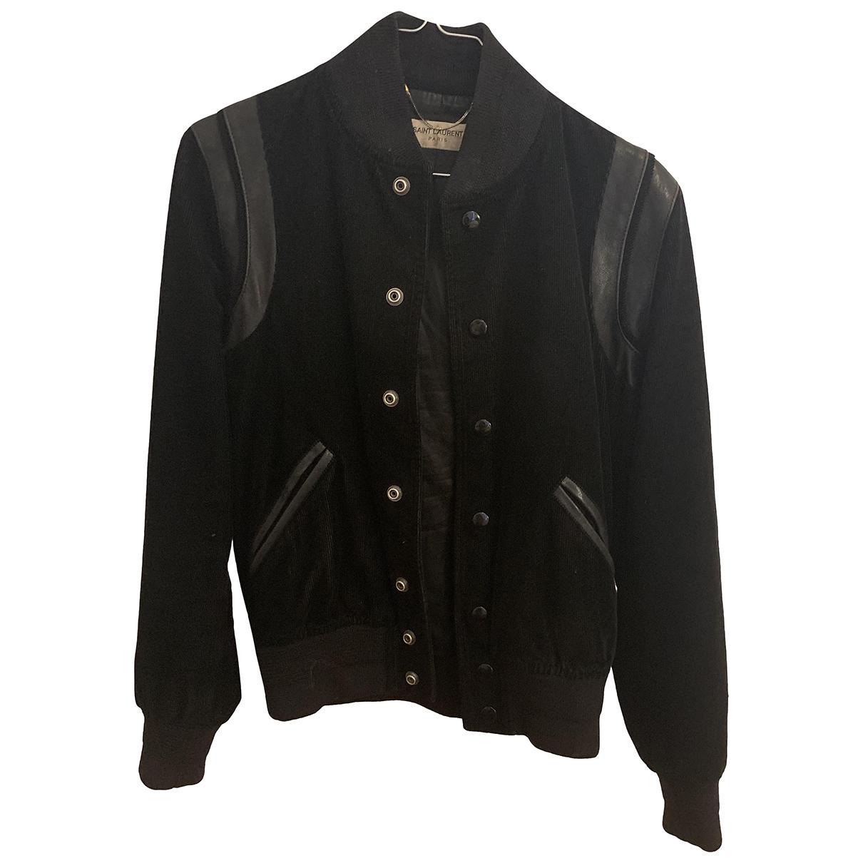 Saint Laurent \N Black Velvet jacket for Women 36 FR