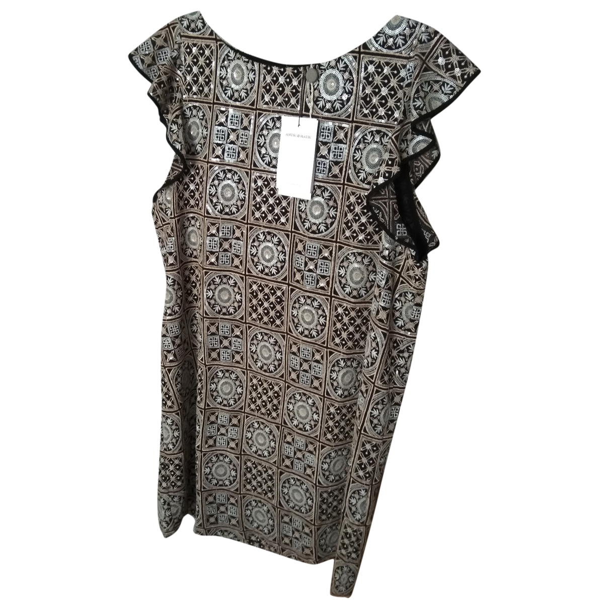 Antik Batik \N Kleid in  Beige Mit Pailletten