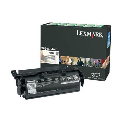Lexmark X654X04A Original Black Return Program Toner Cartridge Extra High Yield