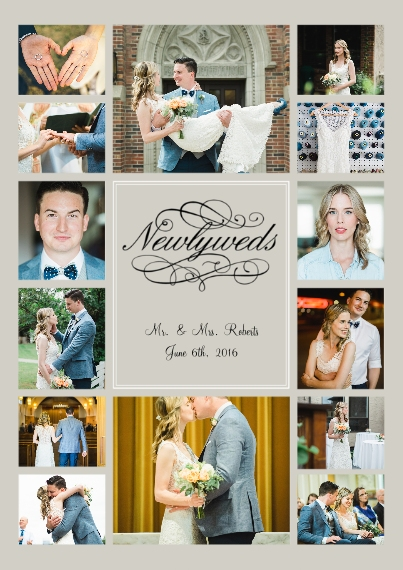 Just Married 5x7 Cards, Premium Cardstock 120lb, Card & Stationery -Newlyweds