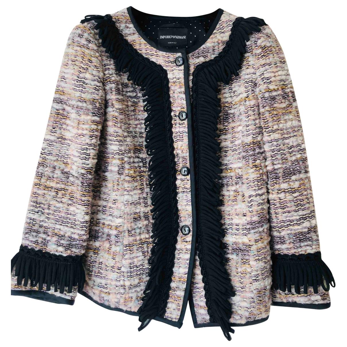 Emporio Armani - Veste   pour femme en laine - multicolore