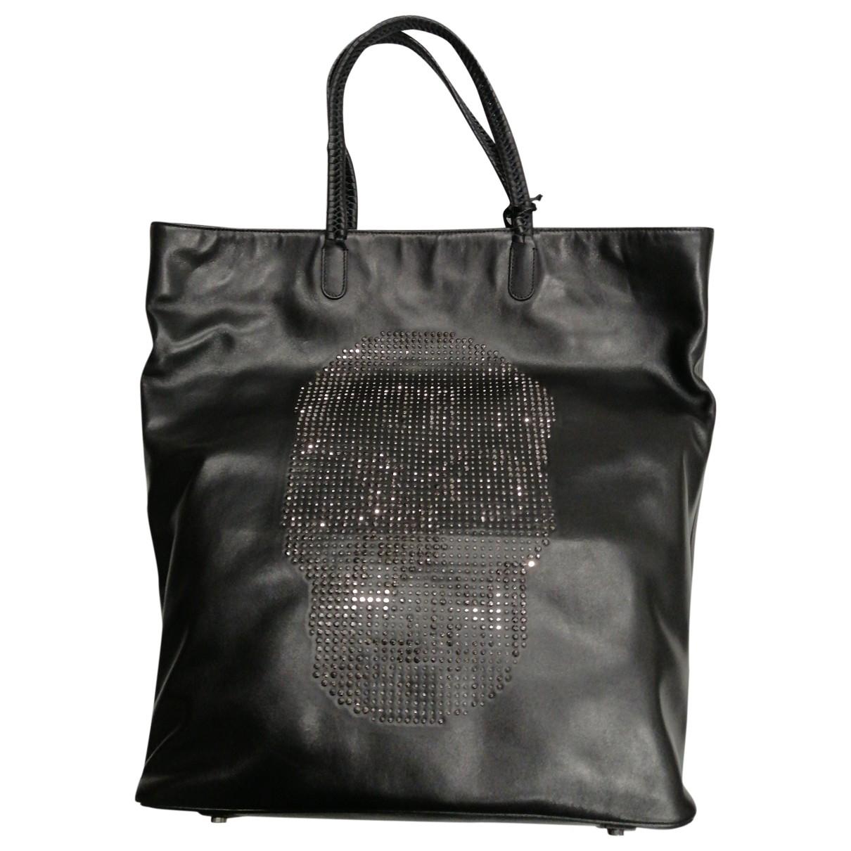 John Richmond \N Handtasche in  Schwarz Leder