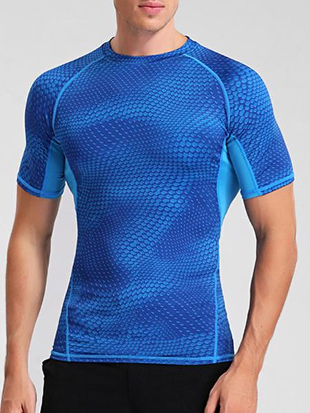 Yoins Men Summer Sporty Plain Anti-Sweat  Quick-Drying Breathable T-Shirt
