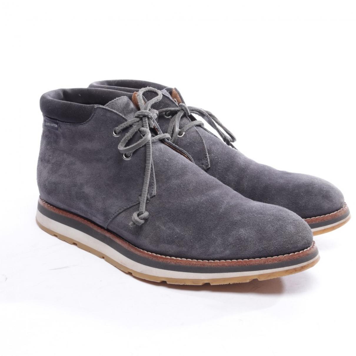 Louis Vuitton - Boots   pour femme en suede - gris