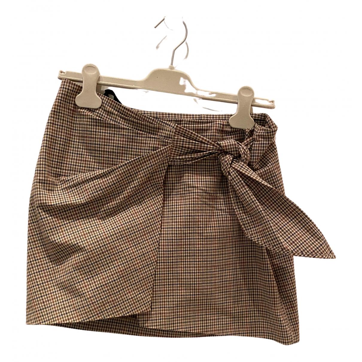 Isabel Marant Etoile - Jupe   pour femme en coton - marron