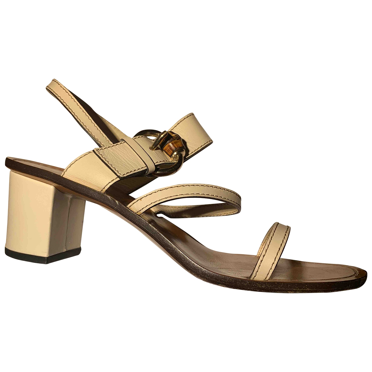 Gucci \N White Leather Sandals for Women 40 IT