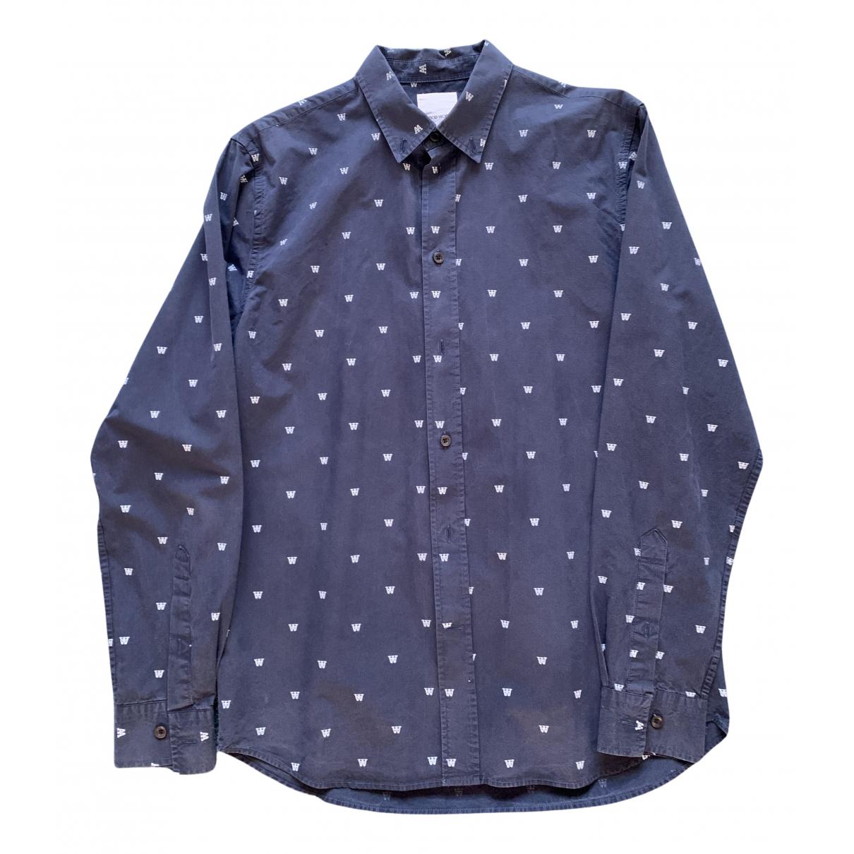 Wood Wood - Chemises   pour homme en coton - bleu