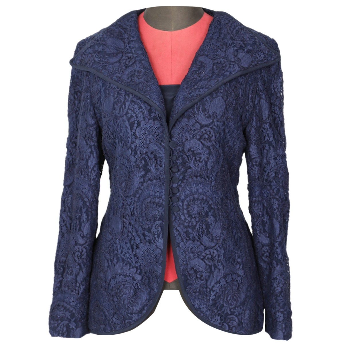 Non Signé / Unsigned \N Blue Silk jacket for Women One Size International