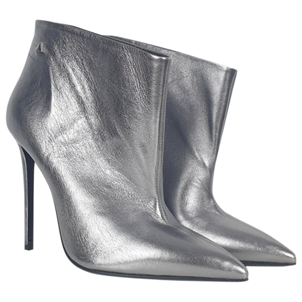 Greymer N Silver Leather Ankle boots for Women 40 IT