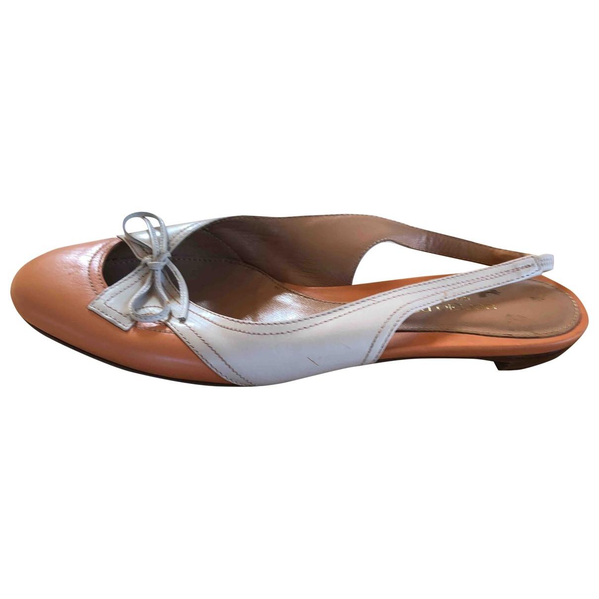 Sergio Rossi \N Beige Leather Sandals for Women 37.5 EU